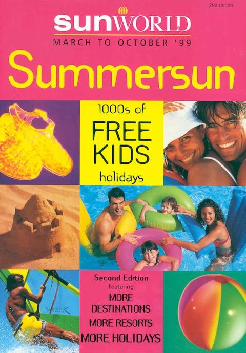 A brochure for Sunworld, bought by Thomas Cook in the 1990s - Credit: THOMAS COOK