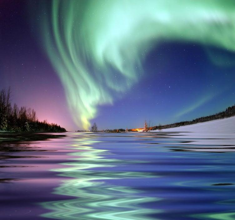 <p>The Aurora Borealis is a concentration of charged particles entering the atmosphere and creating incredible lights in the sky when they ionize. </p>