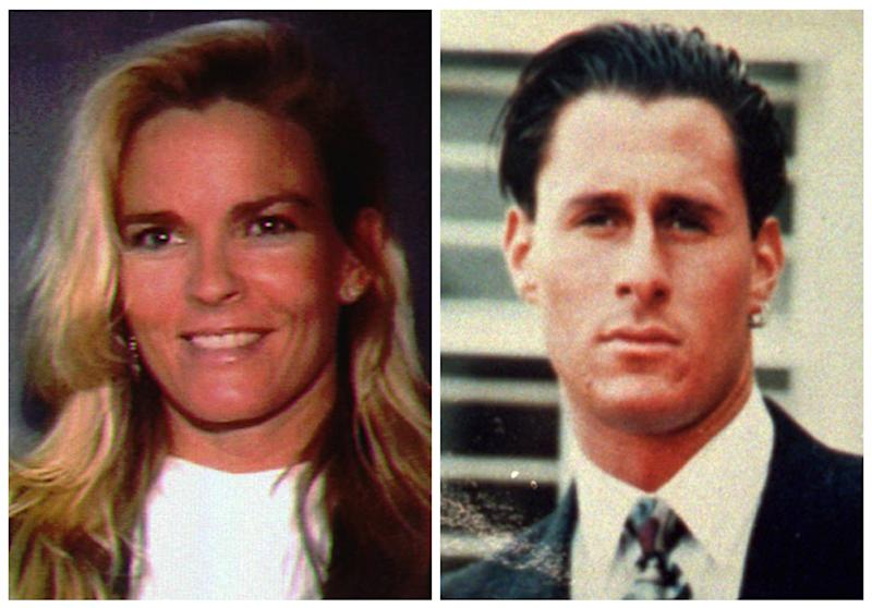 FILE - This file photo combo shows O.J. Simpson's ex-wife Nicole Brown Simpson, left, and her friend Ron Goldman, both of whom were murdered and found dead in Los Angeles on June 12, 1994. O.J. Simpson was arrested in connection to the murder and acquitted of the crime. Simpson is now serving nine to 33 years in a Nevada prison after a jury found him guilty in 2008 of leading the gunpoint robbery of two sports memorabilia dealers in Las Vegas, and he's seeking a new trial because he says his longtime lawyer failed to disclose that he knew about the plan in advance and told Simpson it was legal and provided bad advice at trial. (AP Photo/File)