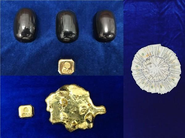 799 grams of gold and USD 10,000 worth Rs 7.35 lakhs zeised by Chennai Air Customs.