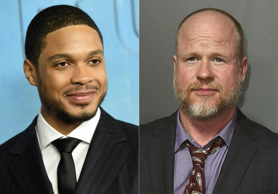 "In this combination photo, actor Ray Fisher arrives at the season three premiere of ""True Detective"" in Los Angeles on Jan. 10, 2019, left, and Joss Whedon arrives at the premiere of ""Bad Times at the El Royale"" in Los Angeles on Sept. 22, 2018. Fisher, who played Cyborg in the DC Comics film, ""Justice League"", directed by Whedon, tweeted Wednesday that Whedon's treatment of the cast and crew was ""unprofessional and completely unacceptable."" Whedon has not responded to Fisher on social media, and emails seeking comment were not immediately returned. (Photo by Jordan Strauss/Invision/AP)"