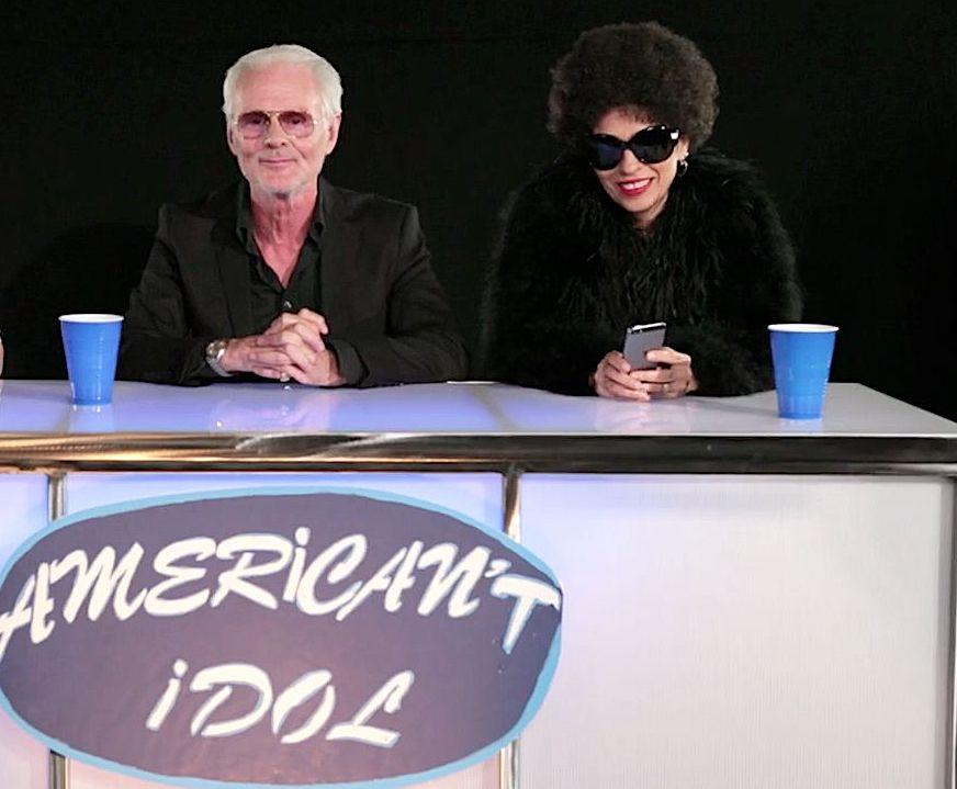 Linda Perry starring in an 'American Idol' spoof with Michael Des Barres to promote 'Make or Break: The Linda Perry Project' in 2014. (Photo: YouTube)