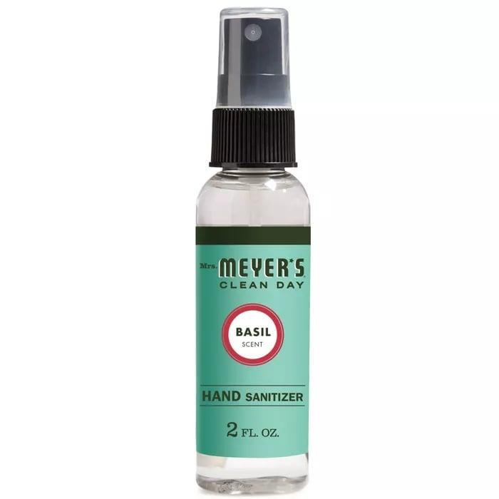 <p>Made with aloe vera extract and essential oils, the <span>Mrs. Meyer 2 oz. Basil Clean Day Hand Sanitizer </span> ($4) fits right in your pocket!</p>