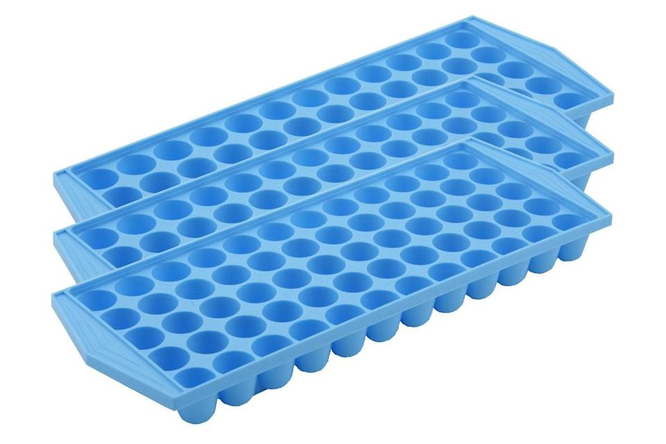 """<h3>Arrow Home Products Ice Tray<br></h3><br>""""No brag but my fridge has an ice cube maker. I got these ice trays anyway, specifically to freeze leftover coffee so I could <a href=""""https://www.refinery29.com/en-us/make-iced-coffee-cold-brew-at-home"""" rel=""""nofollow noopener"""" target=""""_blank"""" data-ylk=""""slk:make iced coffee this summer"""" class=""""link rapid-noclick-resp"""">make iced coffee this summer</a>. I chose these because they make what's best described as Sonic-style ice, which means they're small, ovular cubes. According to the reviews, the texture isn't an exact dupe for Sonic's ice. I like 'em anyway."""" <em> — Mirel Zaman, Deputy Director of Lifestyle, Wellbeing, & Social issues</em><br><br><strong>Arrow Home Products</strong> Arrow Home Products Arrow 60 Cube Ice Tray, $, available at <a href=""""https://www.amazon.com/dp/B00X2XK8O0?psc=1&ref=ppx_yo2_dt_b_product_details"""" rel=""""nofollow noopener"""" target=""""_blank"""" data-ylk=""""slk:Amazon"""" class=""""link rapid-noclick-resp"""">Amazon</a>"""