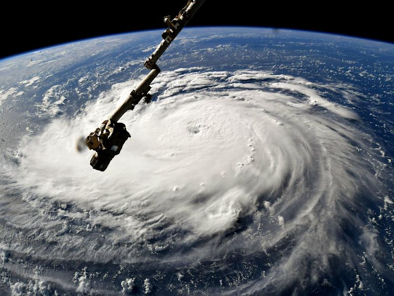 The most expensive climate-linked weather events of 2018 were Hurricanes Florence and Michael, which caused at least £18.5bn worth of damage as they slammed into the United States, the Caribbean and parts of central America: Nasa via Getty Images