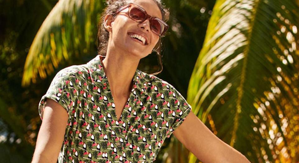 This Boden wrap dress has your name on it, and it's on sale.  (Boden)