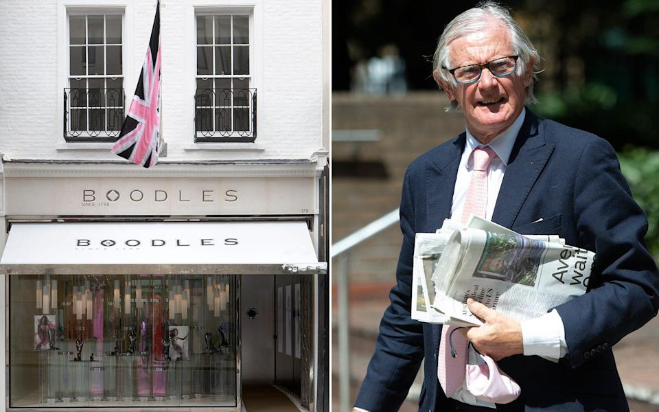 Nicholas Wainwright, the chairman of Boodles, escorted the accused to the basement of the New Bond Street store, to inspect the diamonds