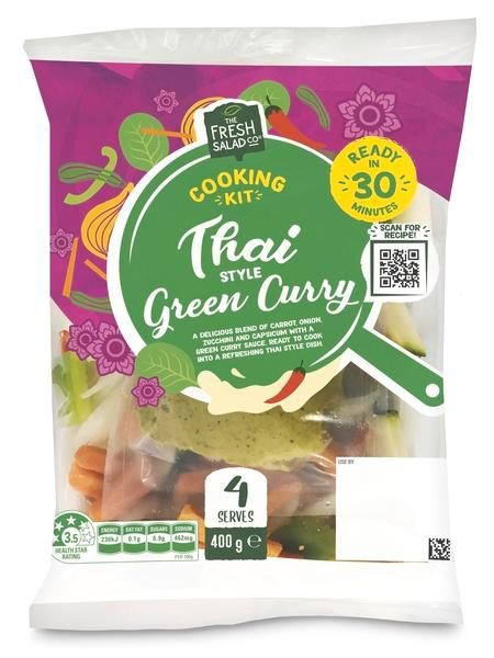 Aldi cooking kits product shot Thai green curry