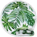 <p>If you're a plant parent, you'll enjoy this <span>Frcisa Round Large Green Tropical Leaves Beach Towel</span> ($22). It's a vibe for the summer.</p>