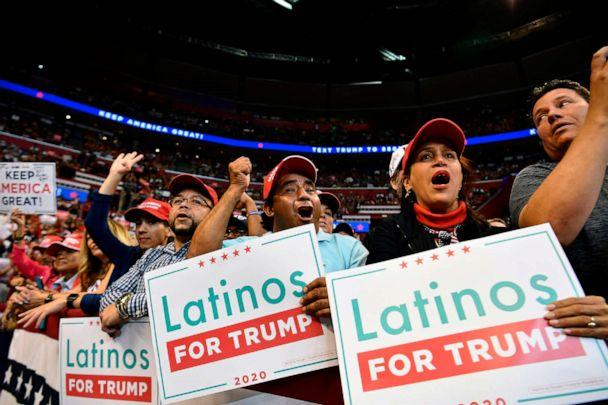 PHOTO: Supporters of President Donald Trump attend a 'Keep America Great' campaign rally at the BB&T Center in Sunrise, Fla., Nov. 26, 2019. (Mandel Ngan/AFP via Getty Images)