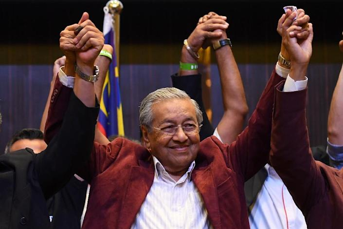 When he takes power, Mahathir Mohamad, 92, will be the oldest prime minister in the world (AFP Photo/Manan VATSYAYANA)