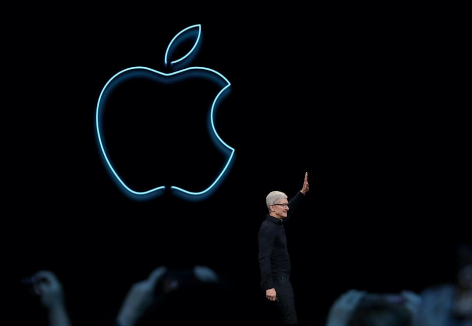 Apple CEO Tim Cook delivers the keynote address during the 2019 Apple Worldwide Developer Conference (WWDC) at the San Jose Convention Center on June 03, 2019 in San Jose, California: Justin Sullivan/Getty Images