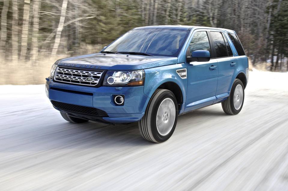 "<b>Worst Five-Passenger SUV - <a href=""http://autos.yahoo.com/land-rover/lr2/2013/"" data-ylk=""slk:2013 Land Rover LR2"" class=""link rapid-noclick-resp"">2013 Land Rover LR2</a></b>: In Great Britain, the Land Rover LR2 is considered an alternative to compact crossovers like the <a href=""http://autos.yahoo.com/honda/cr-v/"" data-ylk=""slk:Honda CR-V"" class=""link rapid-noclick-resp"">Honda CR-V</a> and <a href=""http://autos.yahoo.com/toyota/rav4/"" data-ylk=""slk:Toyota RAV4"" class=""link rapid-noclick-resp"">Toyota RAV4</a>. With its frugal diesel engine, a lower relative price and genuine off-road capability, it's a decent choice if you need a vehicle that can just as easily drive through a muddy pasture as it can cruise the grocery store parking lot. Plus, it's British, so why not fly the flag?<br><br>In the United States, the Land Rover LR2 is considered an alternative to compact luxury crossovers like the <a href=""http://autos.yahoo.com/audi/q5/"" data-ylk=""slk:Audi Q5"" class=""link rapid-noclick-resp"">Audi Q5</a> and <a href=""http://autos.yahoo.com/bmw/x3/"" data-ylk=""slk:BMW X3"" class=""link rapid-noclick-resp"">BMW X3</a>. It may still have more off-road capability, but no amount of leather trim and fancy features can hide the fact that the LR2 is unsuccessfully trying to ford some very deep metaphorical water. Its new turbocharged four-cylinder engine is slow and inefficient for the segment, the cabin is comparatively stark in design, the cargo area is cramped, and unlike Land Rover's mechanically related Range Rover Evoque, nothing about the styling says luxury vehicle. Plus, we're American and there's this thing called a Jeep."