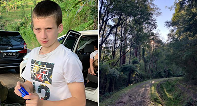 Pictured left is William Wall. Right is the bushland where he went missing.