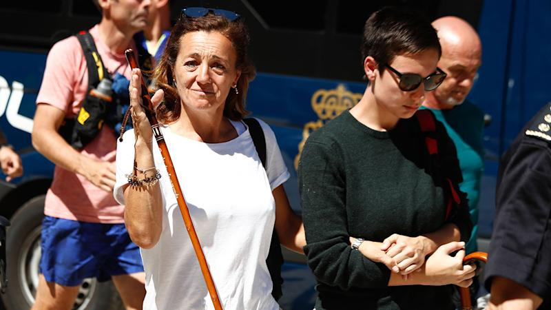Blanca's sister Dores Fernandez Ochoa, pictured hre arriving near the Hotel Cirilo in Cercedilla, which acts as the base of the search.
