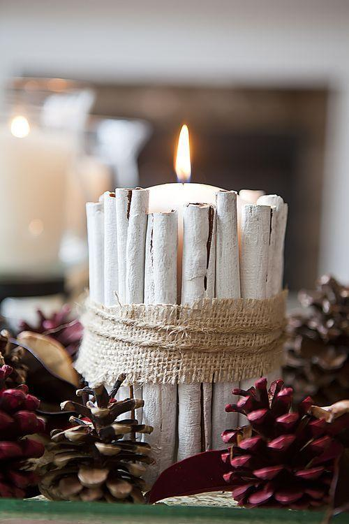 """<p>Group a few of these with some small pinecones for a more neutral table setting.<br></p><p><strong><a href=""""https://www.amazon.com/pillars/b?ie=UTF8&node=3734431"""" rel=""""nofollow noopener"""" target=""""_blank"""" data-ylk=""""slk:SHOP PILLAR CANDLES"""" class=""""link rapid-noclick-resp"""">SHOP PILLAR CANDLES</a></strong></p>"""