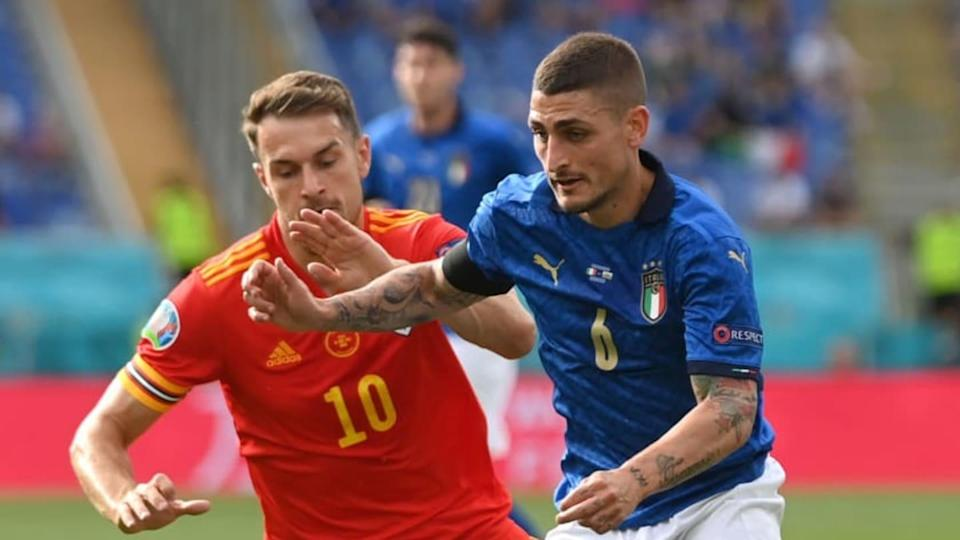 Marco Verratti a duello con Aaron Ramsey | Mike Hewitt/Getty Images