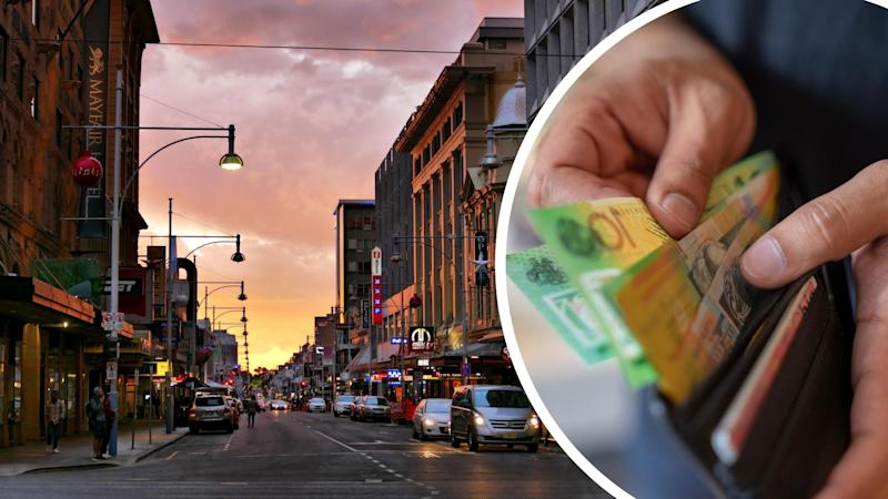 Pictured: Adelaide, Australian cash in man's wallet, coronavirus quarantine payment concept. Images: Getty