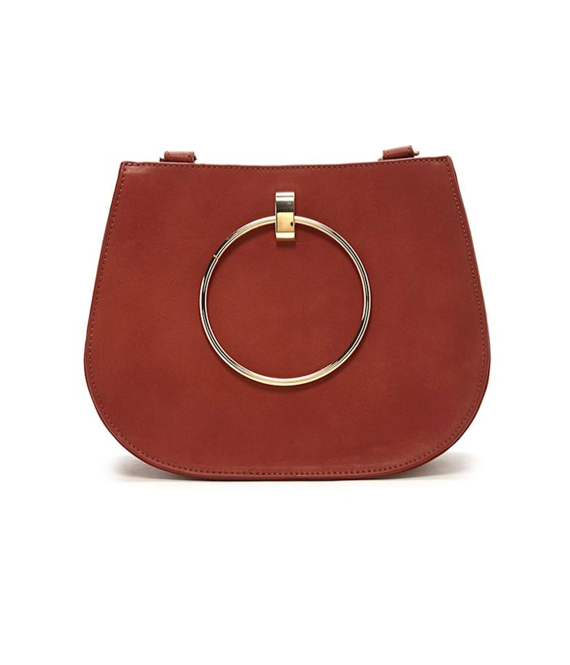 """<p>Faux Leather Crossbody, $28, <a rel=""""nofollow"""" href=""""http://www.forever21.com/Product/Product.aspx?BR=f21&Category=acc_handbags-crossbody-bag&ProductID=1000236300&VariantID="""">forever21.com</a> </p>"""