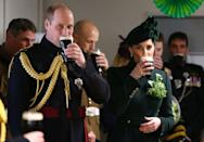 <p>The Duke and Duchess of Cambridge get festive by enjoying a St. Patrick's Day pint. </p>