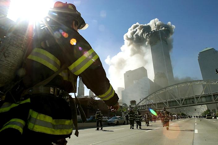 2,996 people were killed on 9/11 - including more than 400 firefighters and emergency responders (Getty Images NA)