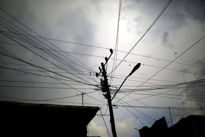 FILE PHOTO: Electricity wires are pictured in Cuba
