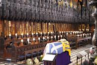 <p>Only 30 guests were allowed to sit in the quire for the duke's funeral. (Getty Images)</p>