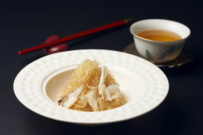 Stir-fried birds' nest with crab meat. Photo: Blossom