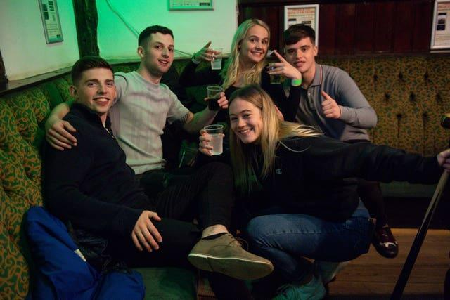 Hugging in pubs is now legal again (Jacob Jing/PA)