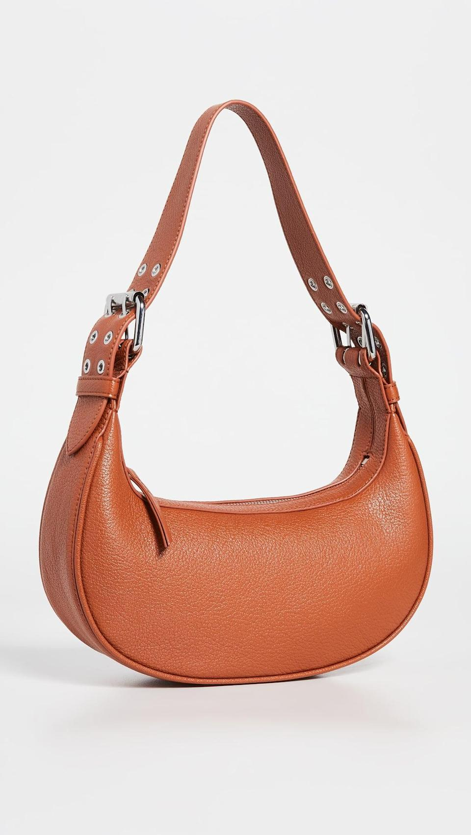 <p>This <span>By Far Soho Cognac Grained Leather</span> ($684) is one you're going to want to wear all the time. The cognac leather is super versatile and goes with everything.</p>