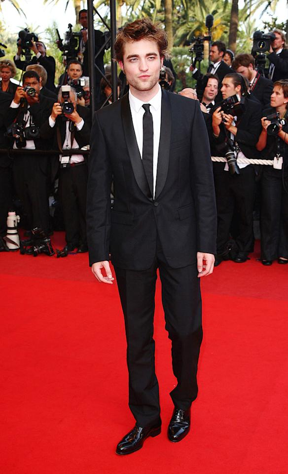 "<a href=""http://movies.yahoo.com/movie/contributor/1808623206"">Robert Pattinson</a> at the 62nd Annual Cannes Film Festival premiere of <a href=""http://movies.yahoo.com/movie/1808404206/info"">Inglourious Basterds</a> - 05/20/2009"