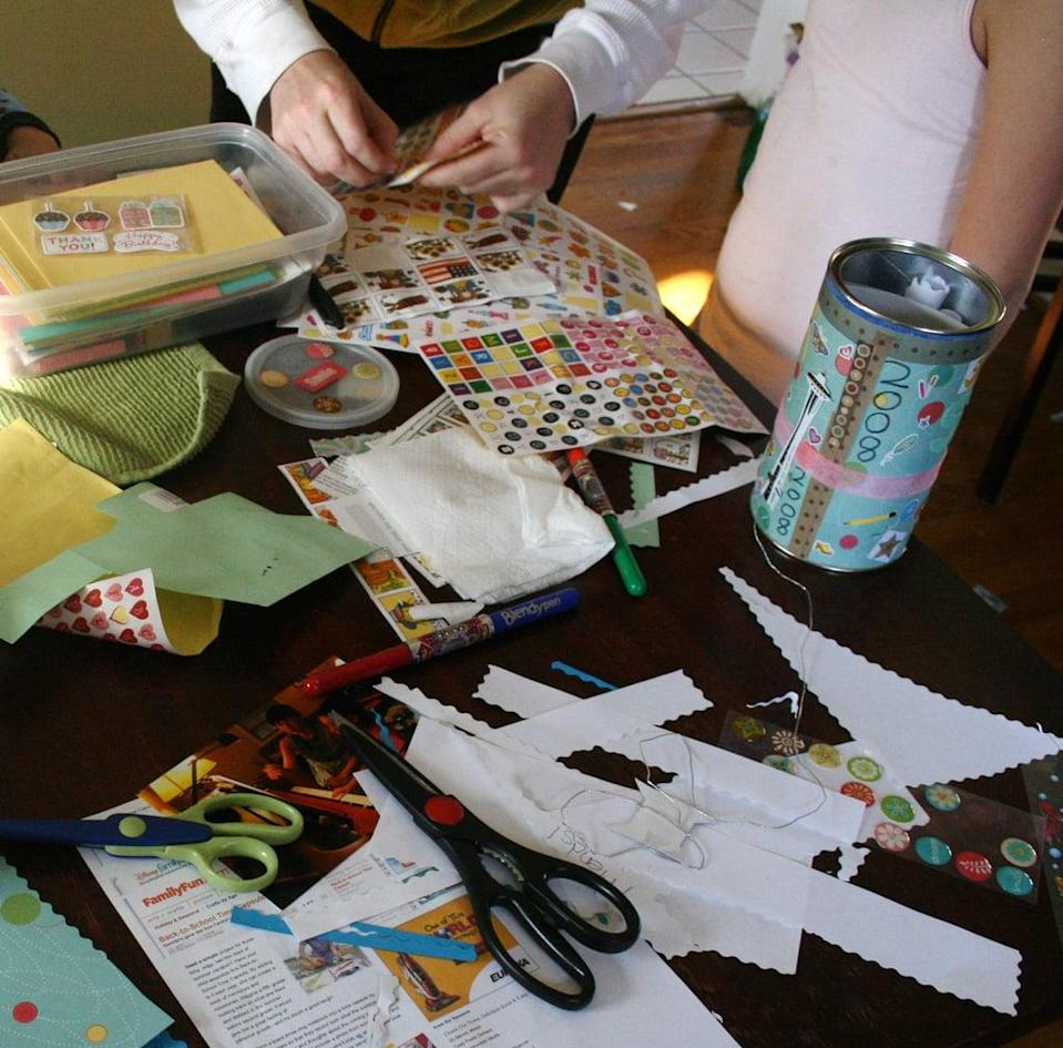 <p>Create a time capsule. Have the kids include letters to their future selves with information like their grade in school, summer plans, their best friends' names, hobbies they enjoy, favorite movies, songs, and more. Also include a few mementos and photos. Be sure to seal the whole thing in an airtight container (a tennis-ball can or Tupperware would work well), and wait until a sunny day to bury it in the backyard. Just remember to make a note of where it is and when you want to open it!</p>