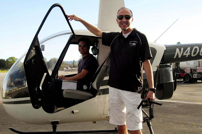Ara Zobayan was at the controls of the helicopter that crashed in Southern California (AP)