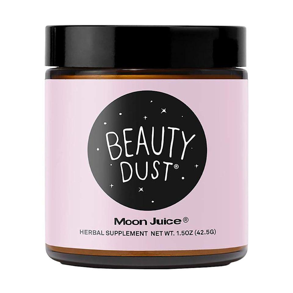 """<p><strong>Moon Juice</strong></p><p>amazon.com</p><p><strong>$38.00</strong></p><p><a href=""""https://www.amazon.com/dp/B01N3U3BDM?tag=syn-yahoo-20&ascsubtag=%5Bartid%7C2089.g.291%5Bsrc%7Cyahoo-us"""" rel=""""nofollow noopener"""" target=""""_blank"""" data-ylk=""""slk:Shop Now"""" class=""""link rapid-noclick-resp"""">Shop Now</a></p><p>Beauty Dust is basically magic dust, right? This herbal supplement blend of super herbs claims to help fight stress, preserve collagen, and enhance the elasticity of skin. Any natural-beauty lover will want to drink it right up.</p>"""