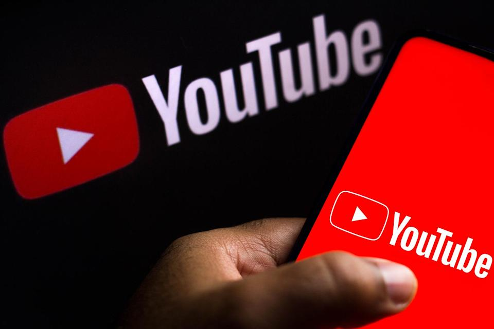 In this photo illustration the YouTube logo seen displayed - Credit: Rafael Henrique/SOPA Images/LightRocket/Getty Images