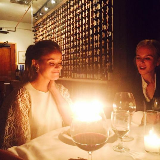 Reese Witherspoon Celebrates 40th Birthday At Dinner With