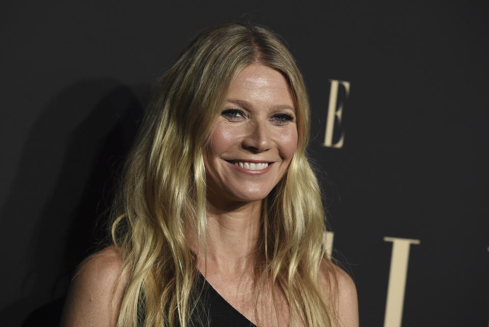 Gwyneth Paltrow arrives at the 26th annual ELLE Women in Hollywood Celebration at the Four Seasons Hotel on Monday, Oct. 14, 2019, in Los Angeles. (Photo by Jordan Strauss/Invision/AP)