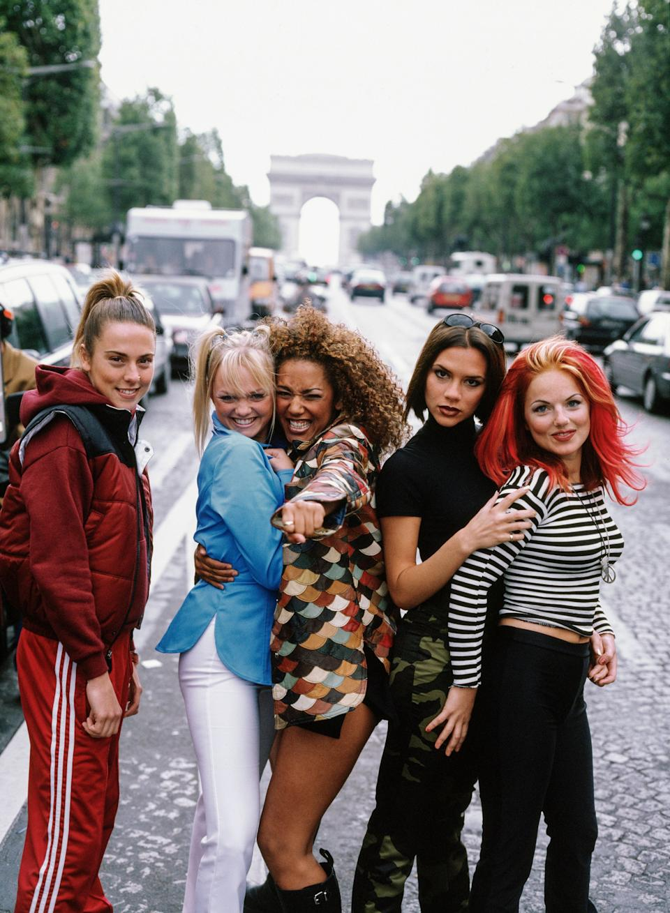 The Spice Girls pictured in Paris back in 1996 (Photo: Tim Roney via Getty Images)