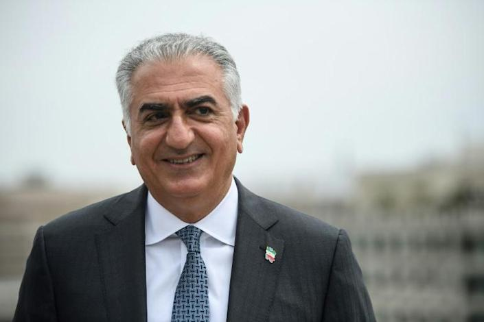 Reza Pahlavi, son of the last shah of Iran, speaks with AFP in an interview in Washington