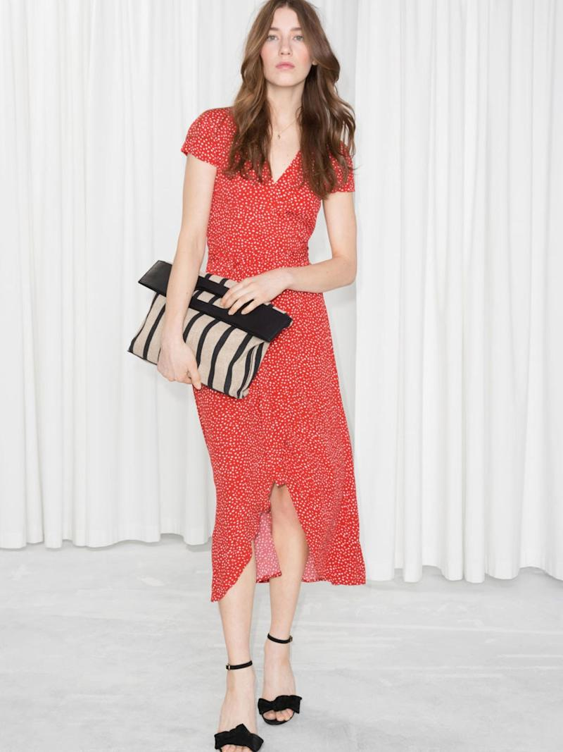 & Other Stories Curved Hem Midi Wrap Dress, $99, & Other Stories