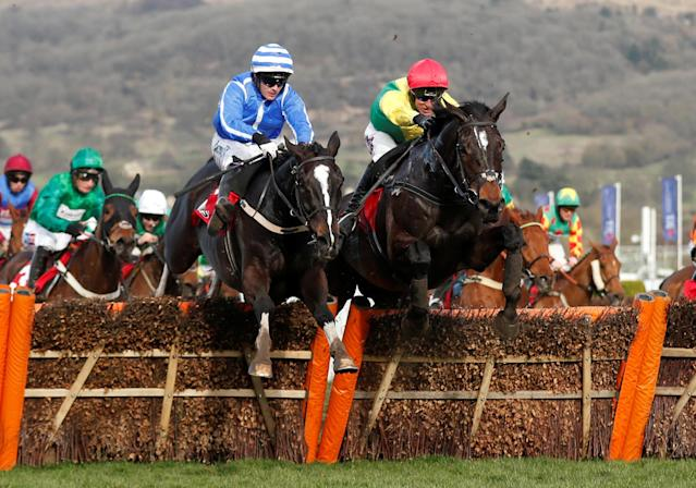 Horse Racing - Cheltenham Festival - Cheltenham Racecourse, Cheltenham, Britain - March 15, 2018 Penhill ridden by Paul Townend before winning the 15:30 Sun Bets Stayers' Hurdle Action Images via Reuters/Matthew Childs