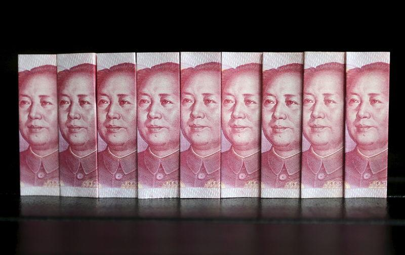 File picture illustration taken in Beijing shows Chinese 100 yuan banknotes