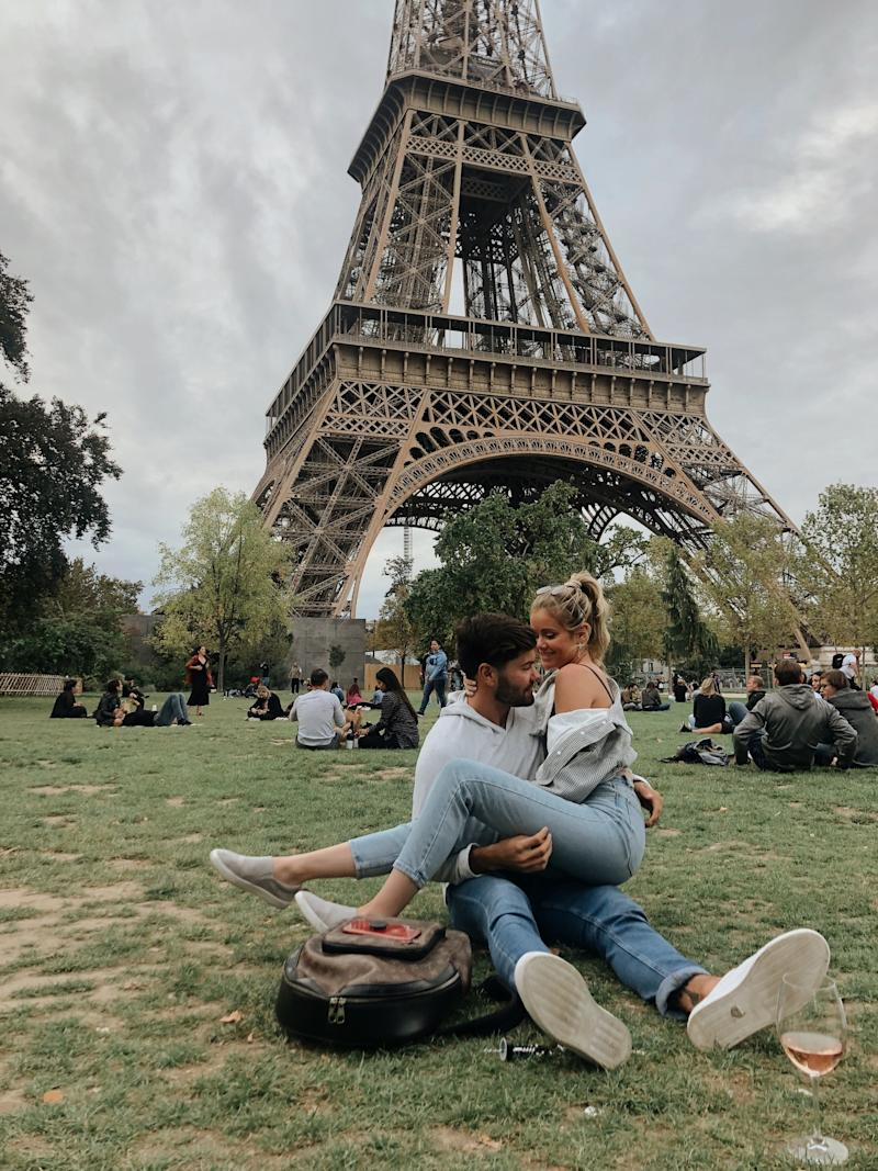 Hannah and Dylan in Paris