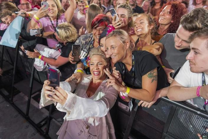 Pink stars in P!NK: ALL I KNOW SO FAR Photo: Andrew Macpherson © 2021 Amazon Content Services LLC