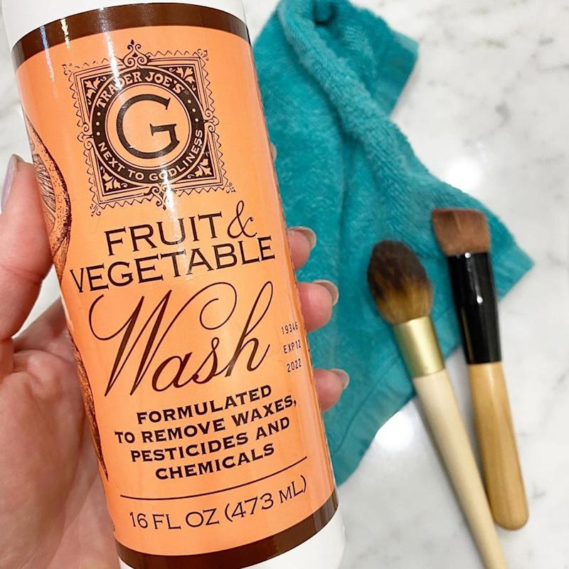 Yep, You Can Use Trader Joe's Fruit and Vegetable Wash to Clean Your Makeup Brushes