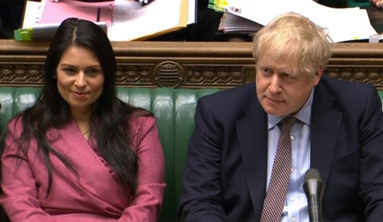 "Prime Minister Boris Johnson voiced ""full confidence"" in interior minister Priti Patel, a prominent right-wing ally and leading Brexit supporter"