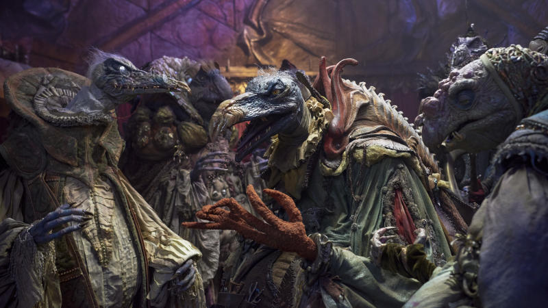 The evil Skeksis hatch a plot in 'The Dark Crystal: Age of Resistance' (Photo: Kevin Baker/Netflix)