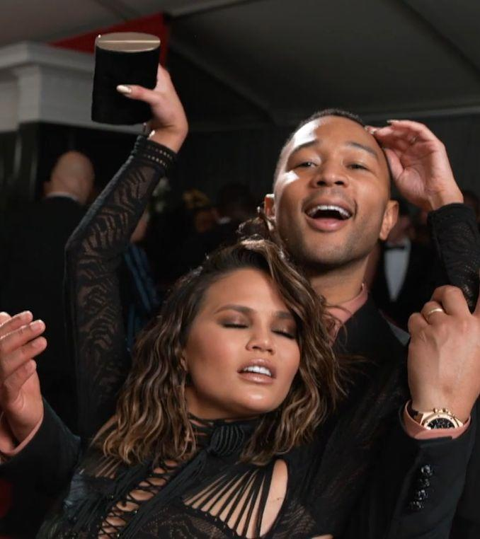 Chrissy Teigen dances up against John Legend