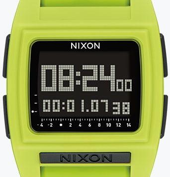 Surfers can check the tide on their wrist with Nixon's Base Tide Pro