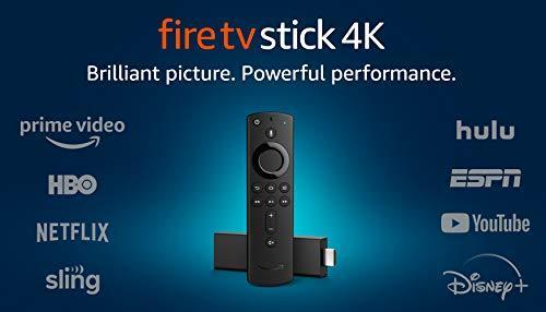 Fire TV Stick 4K streaming device with Alexa Voice Remote (includes TV controls) | Dolby Vision…
